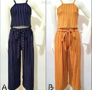Halter and square pants coordinates