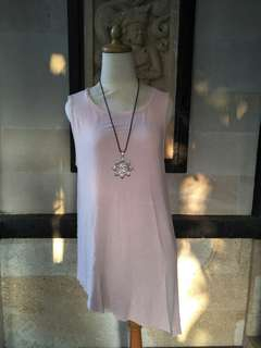 Soft pink top asymetric