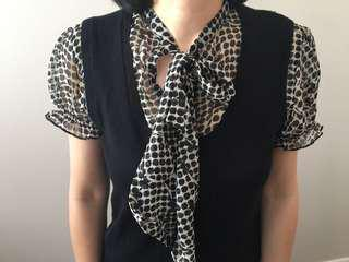 Work blouse knit