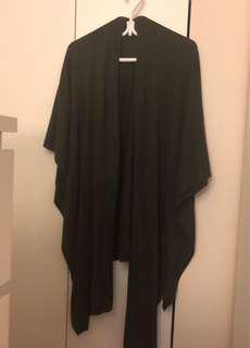 Dark Green Poncho/Waterfall Shawl