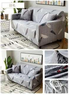 🆕 2 seater Sofa Cover + 1 pcs square cushion cover