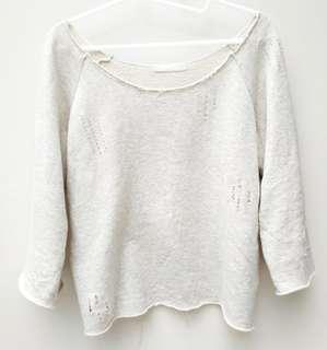 Jeanasis米白色全棉流蘇上衣 Jeanasis 100% cotton hippies style top, free size