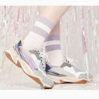 "英國代購* Puma WMNS Thunder Electric ""Quarry/Lavender"""