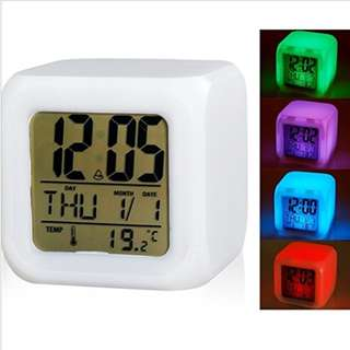 1429. Glow in the Dark LED Night Light Color Changing Digital Alarm Clock
