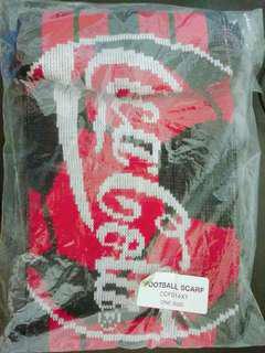 🚚 全新可口可樂手工編織圍巾
