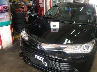 installation of Vaitrix DigiPedal Throttle controller onto his 2017 Toyota Axio 1.5 Auto