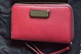 Marc By Marc Jacobs red wallet with phone slot pouch