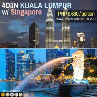 4D3N Kuala Lumpur with Singapore