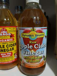 Raw Apple Cider Vinegar ACV with Mother and Honey 50/50