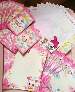 My Melody and Bunny letter paper set