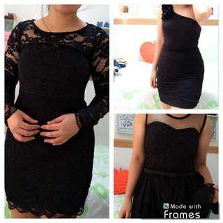 Branded little black dress