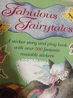A sticker story & play book- Fabulous fairytales