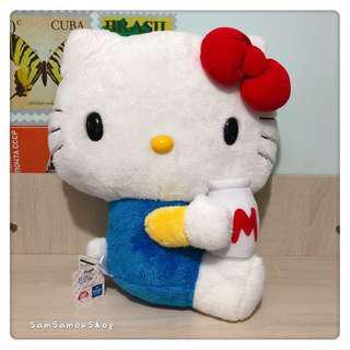 日本景品 Sanrio Hello Kitty 牛奶款 公仔