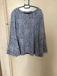 Lace blouse / light blue