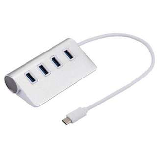 1433. Generic Usb-c / Type-c 3.1 To 4 Usb 3.0 Ports Hub Converter Adapter Forbook, Google, Nokia Tablet Pc(silver)