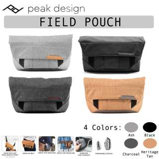 Peak Design Field Pouch (Ash / Black / Charcoal / Heritage Tan : BP-AS-1 / BK-1 / BL-1 / BR-1)