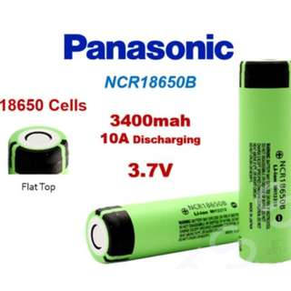 🚚 Panasonic 松下 日本原裝進口 18650 鋰電池 平頭 超高容量 3400mah NCR18650B panasonic flat top cell TABBED li-ion rechargeable battery