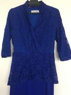 Variante dress (evening gown/kurung) royal blue