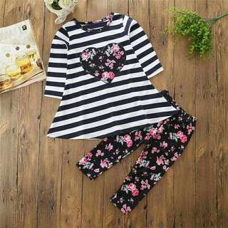 2pc Set Baby Girl Floral
