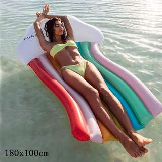 180cm Inflatable Rainbow Cloud Float Summer Swimming Ring For Adult Kids Water Party Toys Rainbow Floating Row
