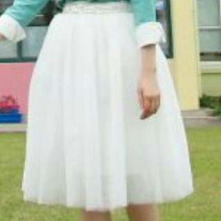 Pre-wedding 白色紗裙