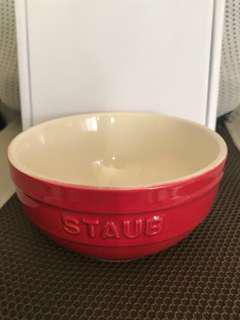 全新   法國STAUB紅色陶瓷碗12cm/0.4L (零售價: HK$249)