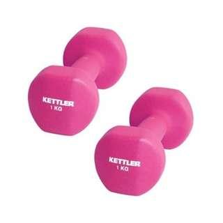 Kettler Dumbell Neoprene 2Kg Pink - Kettler Barbel Neoprene 2Kg Pink