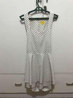 White Polka Dot Romper/Dress