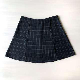 Black Grid Skirt
