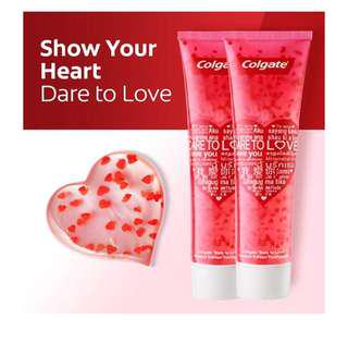 🚚 Colgate Dare to Love limited edition toothpaste