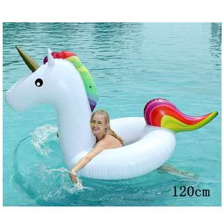 120*90CM Medium Size Unicorn Beach Circle Float Children's Pool Swimming Ring Teenager Summer Boia Piscina Party Toy