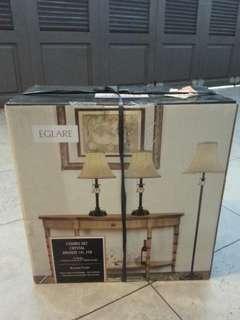 EGLARE Combo Set Crystal Lamp