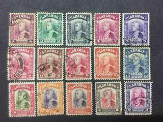 Sarawak 1934 Brooke Empire 1c To $2 - 15v Used Malaya Stamps