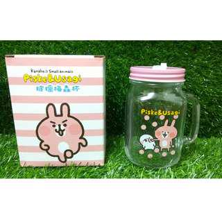 卡娜赫拉的小動物 玻璃 梅森杯 可愛 卡娜赫拉 Kanahei  p助 兔兔 台灣製造 玻璃杯 Mason Cup 環保