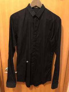 Dior Homme Black Classic Bee Shirt (size 37)