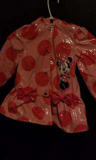 Minnie Disney rain jacket size: 4