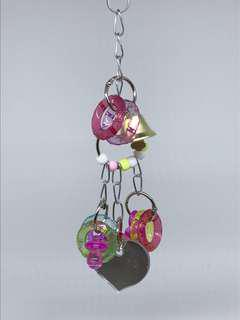 Acrylic Beads and Mirror Hanging Toy for Parrots