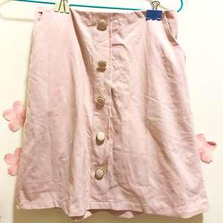 粉紅色有袋直身裙
