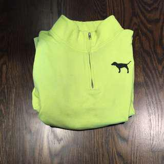 PINK Quarter Zip Size Small