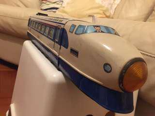 舊日本製JR 第一代子彈火車鐵皮玩具
