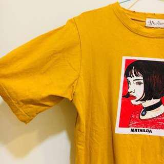 🚚 全新❤️超美 圖案短t 黃色短t 短袖T恤 字母