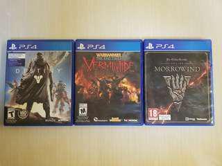🚚 PS4 3 Games Bundle