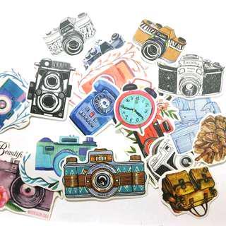 手帳貼紙 (相機,行李箱)