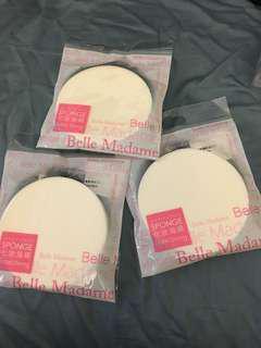 包平郵!三個台灣製造化妝海綿sponge
