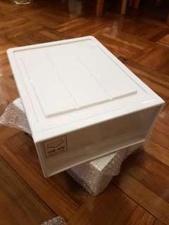 全新 純白抽屜 櫃桶 (備有間隔)