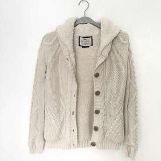 Bershka Knitted Fur Jacket