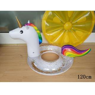 Glitter Unicorn Pool Float Giant Inflatable Outdoor Swimming pool