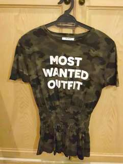 "Zara Army ""Most Wanted Outfit"" Top #zara50"