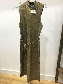NEW Topshop Gold Dress