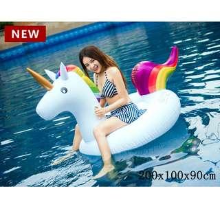 200CM Inflatable Unicorn Pool Float Unicorn Giant Float Sea Mattress Pool Inflatable Toys Inflatable Unicorn Swimming Float